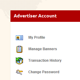 Advertiser Account Control Panel