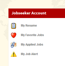 Jobseeker Account Control Panel